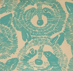 Rocky Raccoon in Turquoise