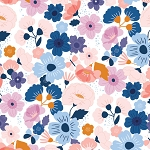 Floral Splendor in Blue