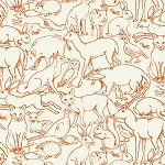 Animal Outline in Orange