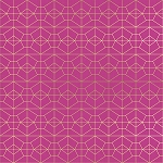 Geo Grid in Fuchsia
