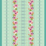 Rose Border in Multi