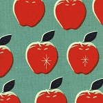 Canvas Apples in Blue & Red