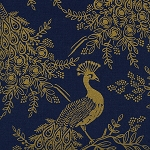 Royal Peacock in Navy | Canvas