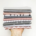 Dusty Rose & Steel Yardage Bundle