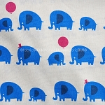 Elephants in Blue