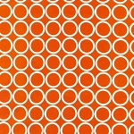 Metro Living Rings in Orange