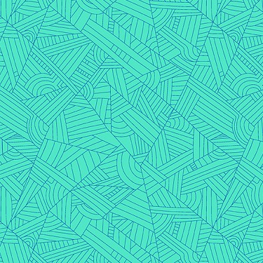 Lines in Turquoise