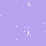 Moon and Stars in Purple