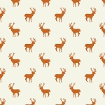 Deer Stag in Orange