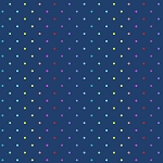 Rainbow Swiss Dot in Navy