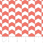 Chevron in Grapefruit