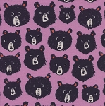 Teddy and the Bears in Lilac