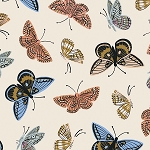 Monarch in Cream | Cotton Lawn