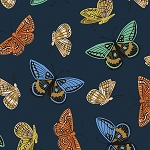 Monarch in Navy | Cotton Lawn
