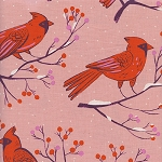 Winter Cardinals in Pink