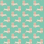 Bunnies in Turquoise