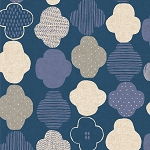 Clouds in Dark Blue | Canvas