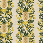 Pineapple Stripe in Cream Metallic | Canvas
