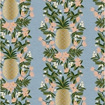 Pineapple Stripe in Periwinkle Metallic | Canvas