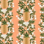 Pineapple Stripe in Peach Metallic