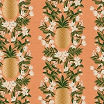Pineapple Stripe in Peach Metallic | Canvas