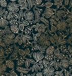 Moxie Floral in Black Metallic