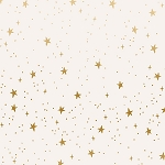 Stars in Cream Metallic
