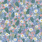 Wildflowers in Periwinkle | Cotton Lawn