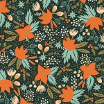 Poinsettia in Evergreen | Rayon