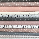 Dusty Rose & Steel Fat Quarter Bundle