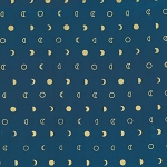 Moons in Navy and Gold