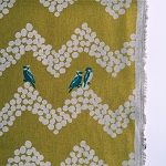 Birds and Chevron in Mustard