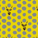 Buck and Dots in Mustard and Grey