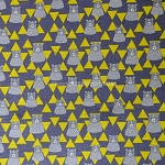 Triangle Bears in Yellow