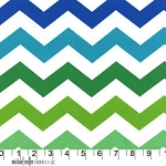 Chic Chevron in Lagoon