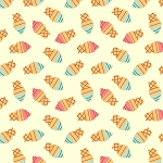 Ice Cream Cones in Cream