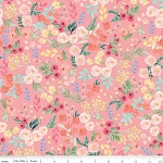 Floral Wallpaper in Light Coral