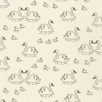 Swans Swimming in Ivory