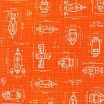 Blueprint in Orange