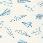 Paper Airplanes in Blue