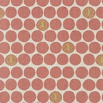 Stamped Dots in Rose | Cotton Flax