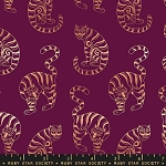 Tiger In The Taiga in Purple Velvet Metallic