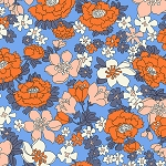 Lindley Lawn Floral in Blue