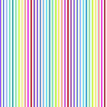 Rainbow Stripe in White