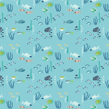 River Fish in Blue