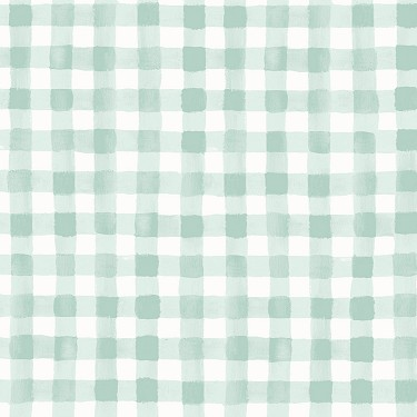 Painted Gingham in Mint