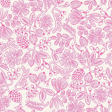 Moxie Floral in Neon Pink