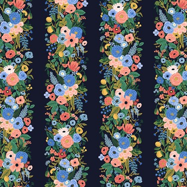 Garden Party Vines in Navy | Rayon<br>16 inches