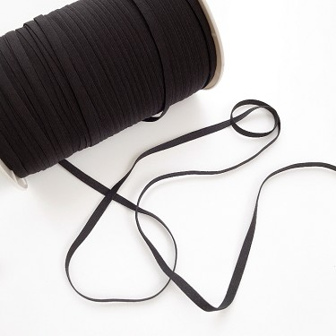 Black Soft Elastic 1/4 inch