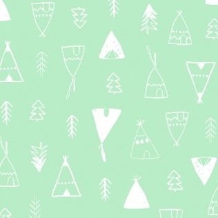Teepees in Mint